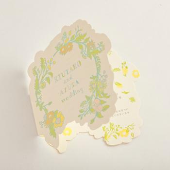 結婚式のための招待状 オフセット印刷/カット加工